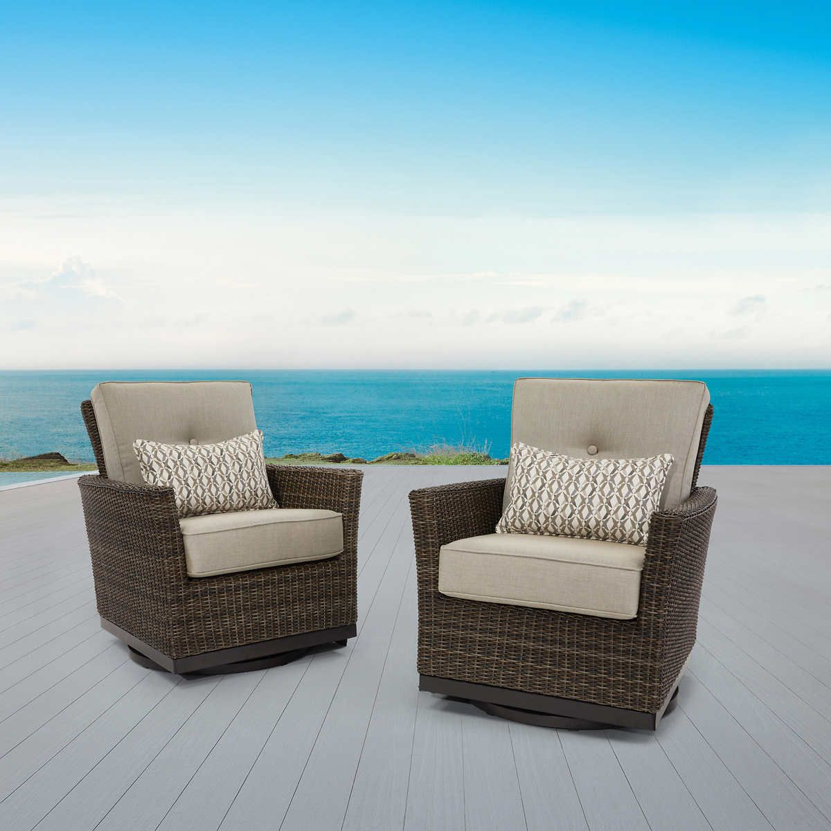 Agio Springdale 2 Pack Swivel Gliders In 2020 Swivel Glider Patio Chairs Deck Furniture