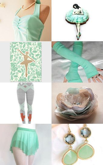 Dancing in Mint by Lesley on Etsy--Minty Fresh Ballet Dance Gift Ideas! Royall Dancewear skirt