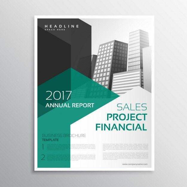 Brochure D Affaires Propre Rapport Annuel Modèle Page De