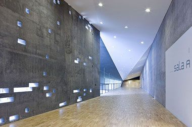 Perforations In Concrete Wall Herzog De Meuron Tea Inside Interiors Concrete Wall Iconic Buildings