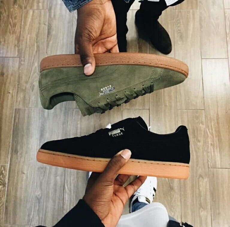 les 25 meilleures id es de la cat gorie puma suede kaki sur pinterest puma suede verte basket. Black Bedroom Furniture Sets. Home Design Ideas