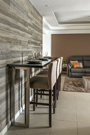Another Way To Save On Space Is To Place A Tall Dining Table And Bar Stools  Against A Wall. This Would Create More Room For You And Your Family To Move  ...