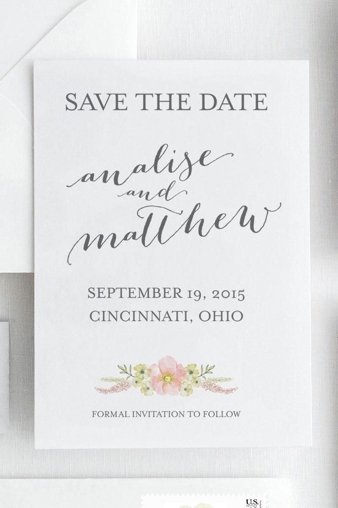 Analise Save the Date | Pinterest | Florals, Engagement and Wedding