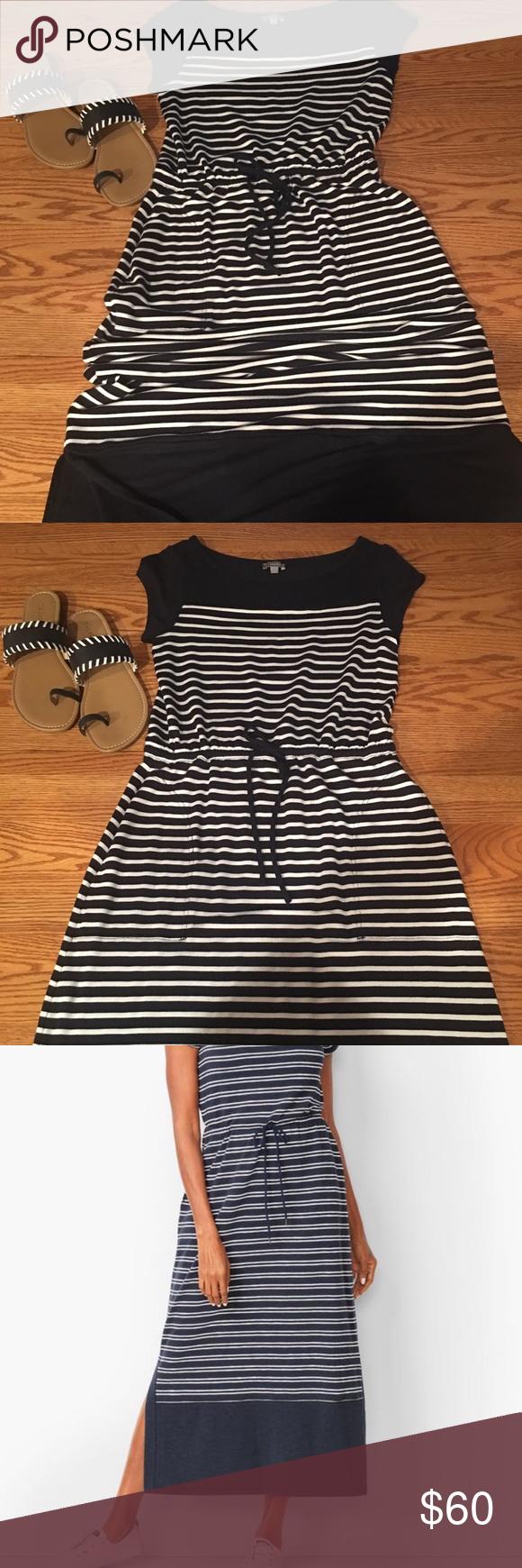 Final Sale T Talbots Stripe Nautical Maxi Dress Clothes Design Dresses Talbots [ 1740 x 580 Pixel ]