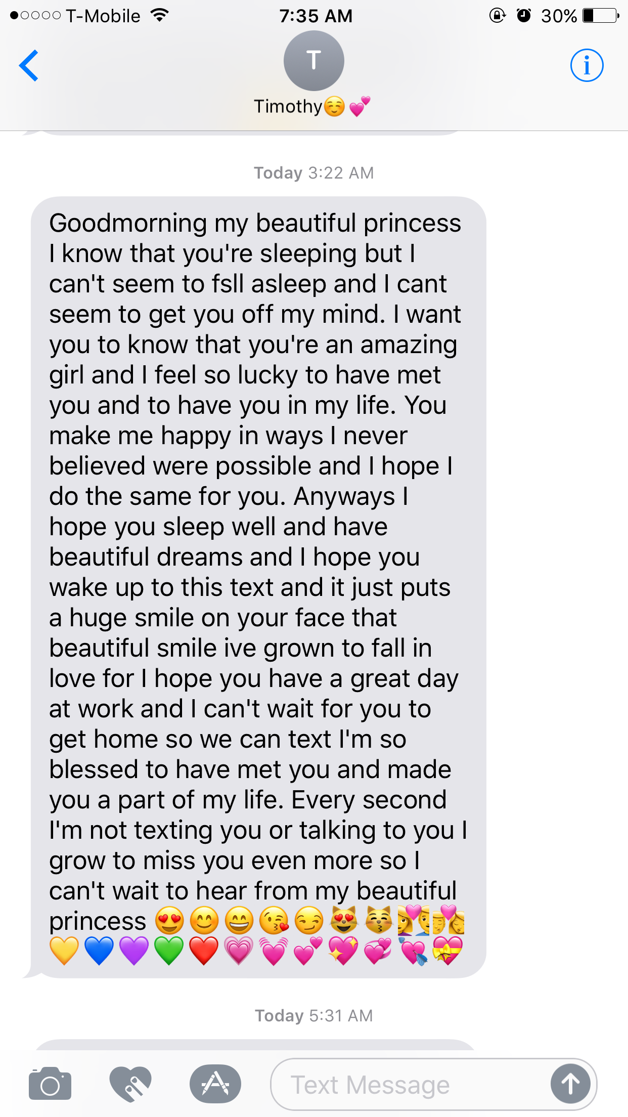 Long Goodnight Message Boyfriend