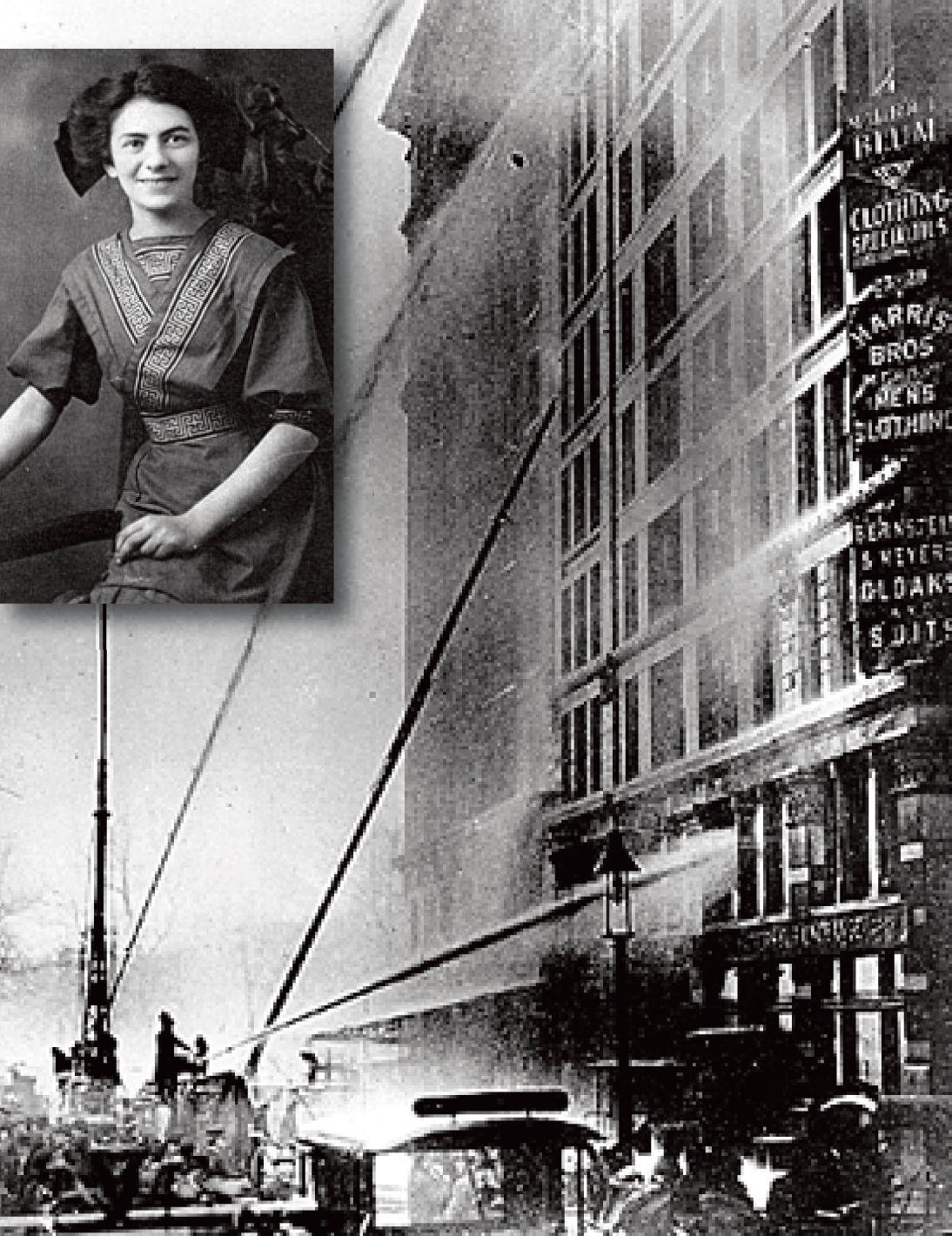 March 3, 1911: Rose Rosenfeld, seventeen (inset), survives ... Triangle Shirtwaist Fire 1912