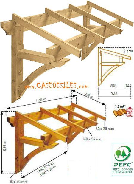 Auvent en bois à Prix Discount : Auvent bois de porte et ...
