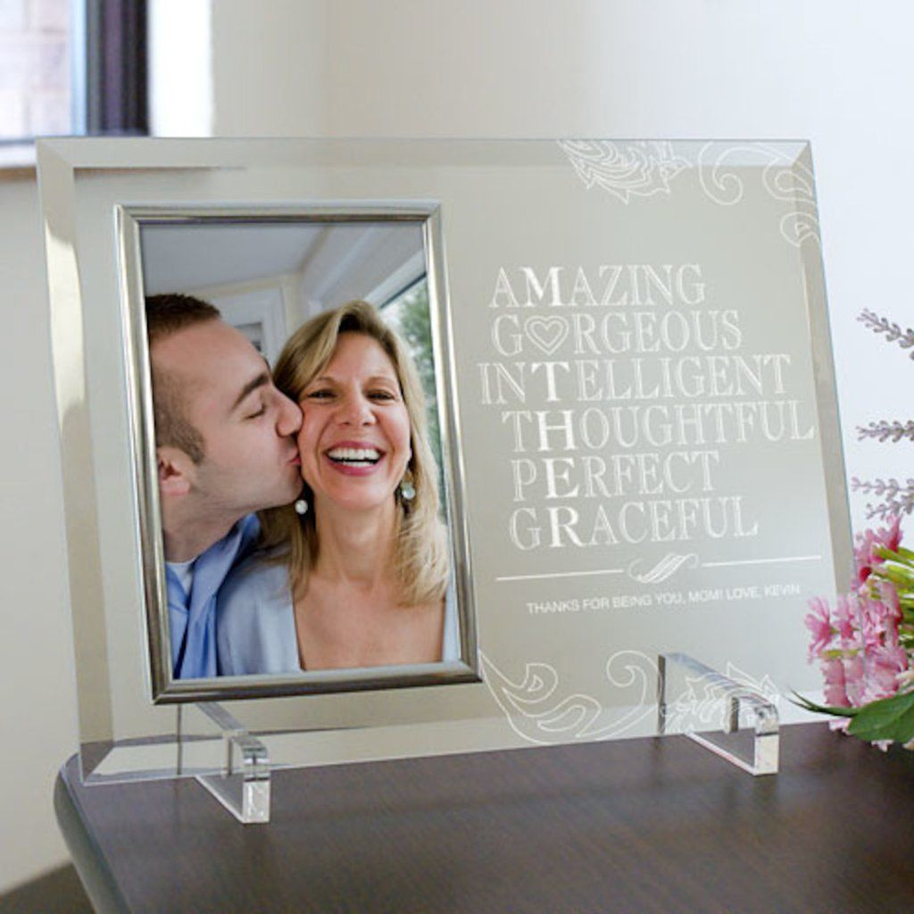 Personalized Engraved Mother Glass Picture Frame - Gifts Happen Here ...