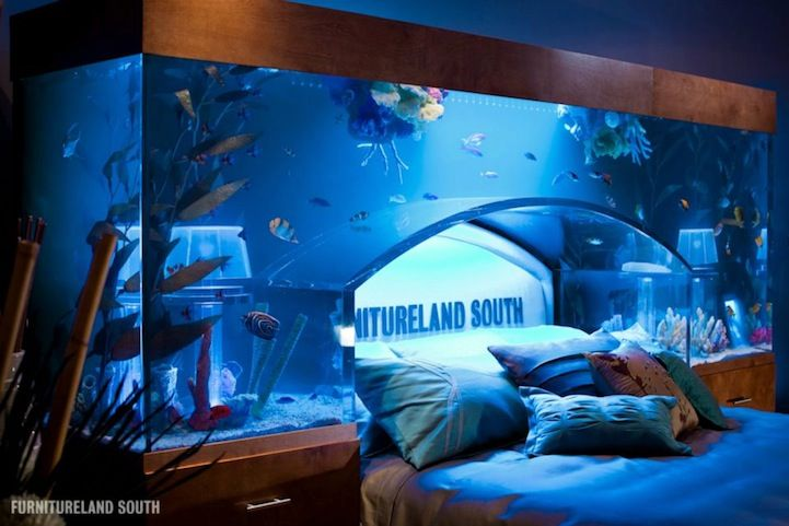 Aquarium Schlafzimmer ~ Bedroom with aquarium design style home design