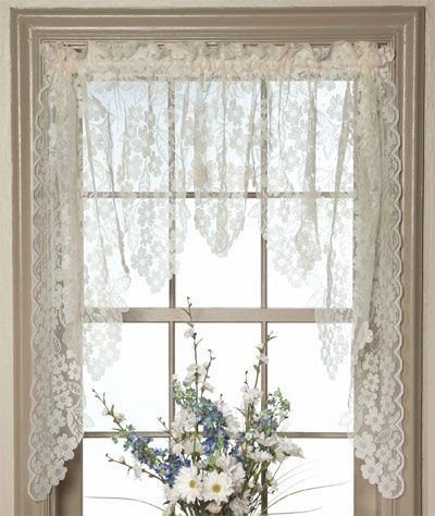 I Love These Lol White Lace Swag Curtains Swag Curtains Curtains Lace Curtains Diy Curtains