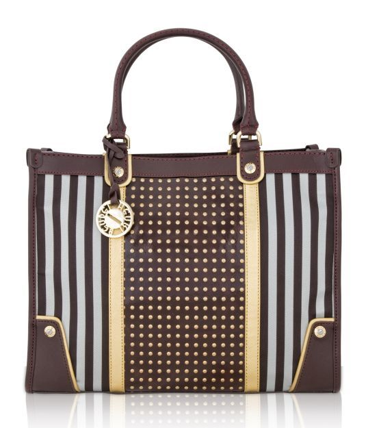 Brown Studded Tote   Handbags   Henri Bendel   Bag Stuffs cebb8bac30