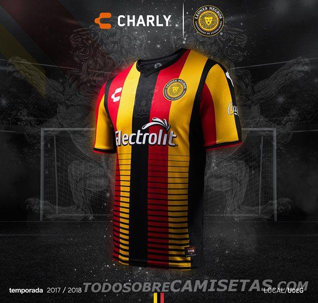 Uniformes Charly Futbol de Leones Negros 2017 - Todo Sobre Camisetas ... a2191b06b13