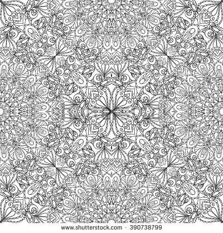 Mandala Seamless Pattern,Background. Vintage Decorative Ornament ...