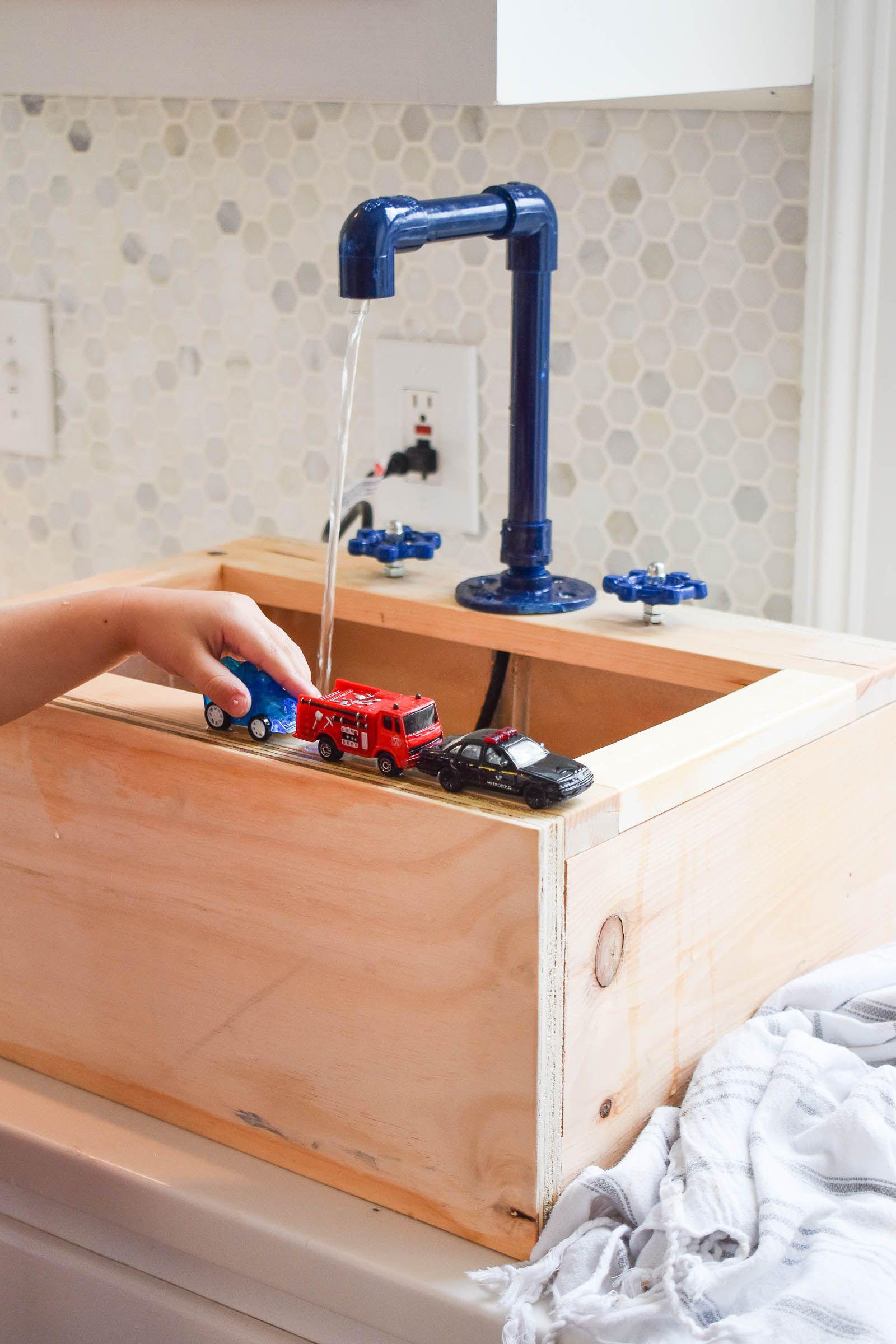 kids wooden kitchen sink