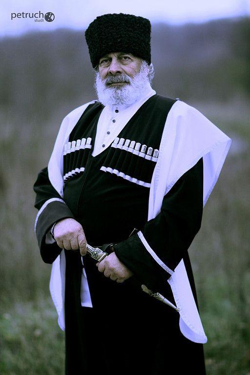 .Russian man in Circassian costume   Caucasus costume ... Старые Вещи Одежда