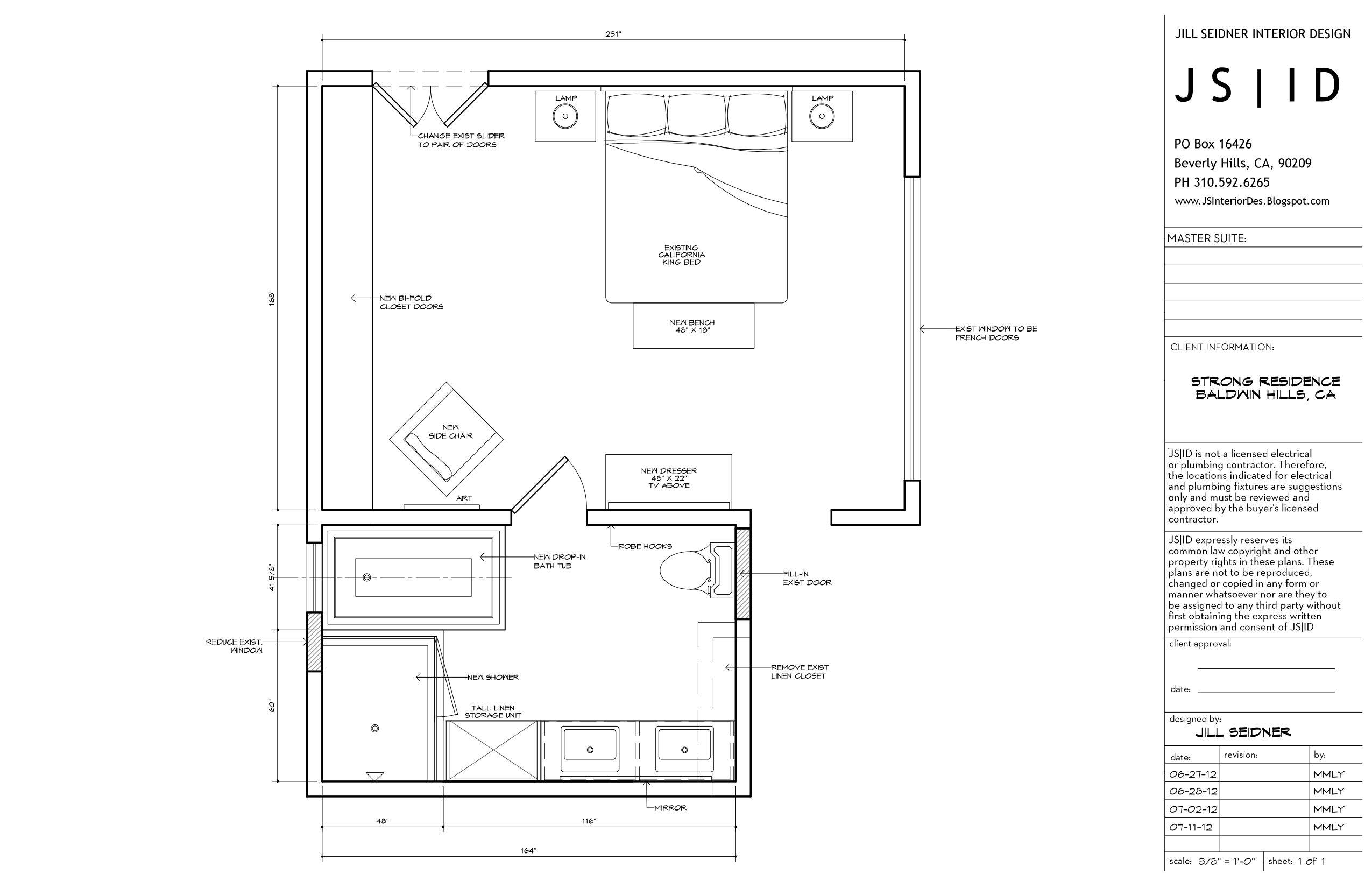 Baldwin hills ca residence master bedroom bathroom for Baldwin floor plan