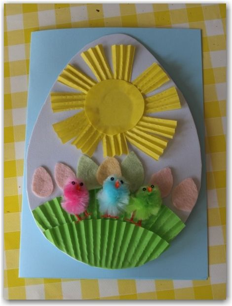 Easter Cards for Preschoolers to Make – Easter Cards for Kids to Make