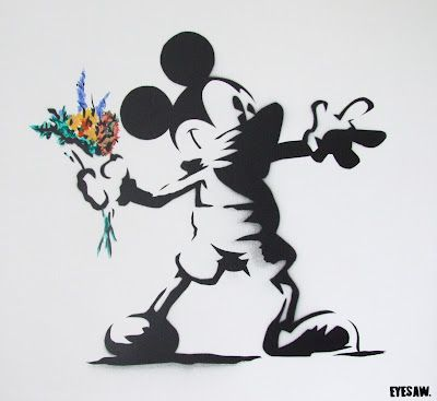 'Disneyfied' Banksy Mickey Mou$e Bank$y by Eyesaw