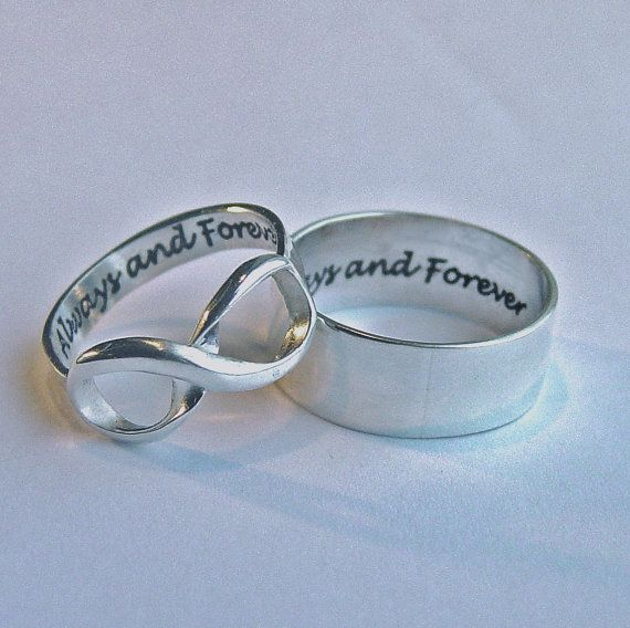 Her Infinity His Band Always And Forever Rings By Mineovermatter 144 95