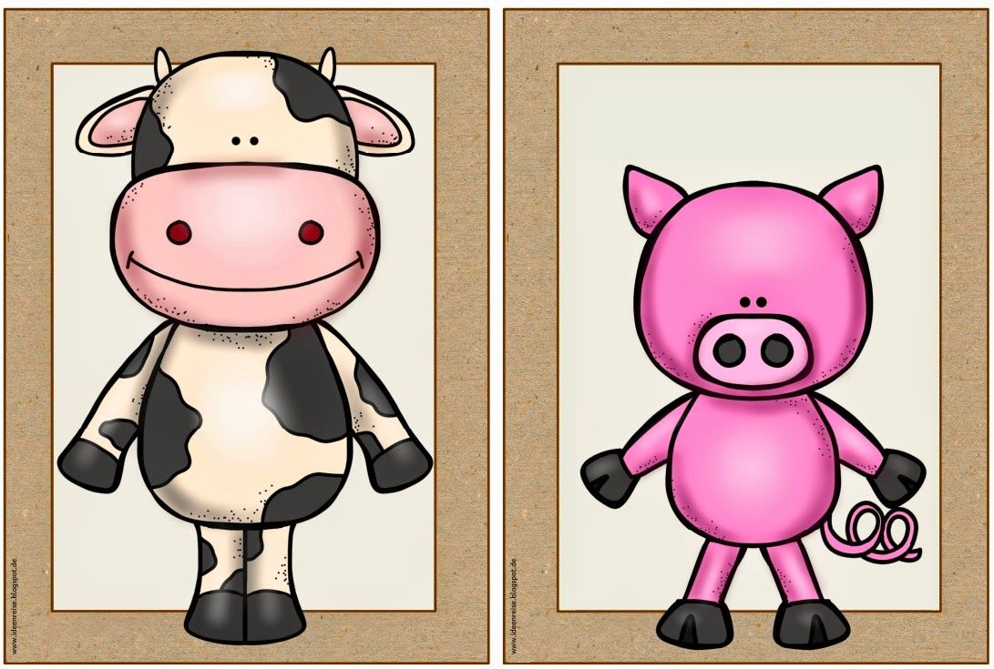 "Ideenreise: Flashcards ""farm animals"""