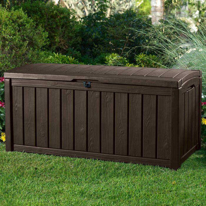 Surbit 101 Gallon Resin Deck Box Patio Storage Resin