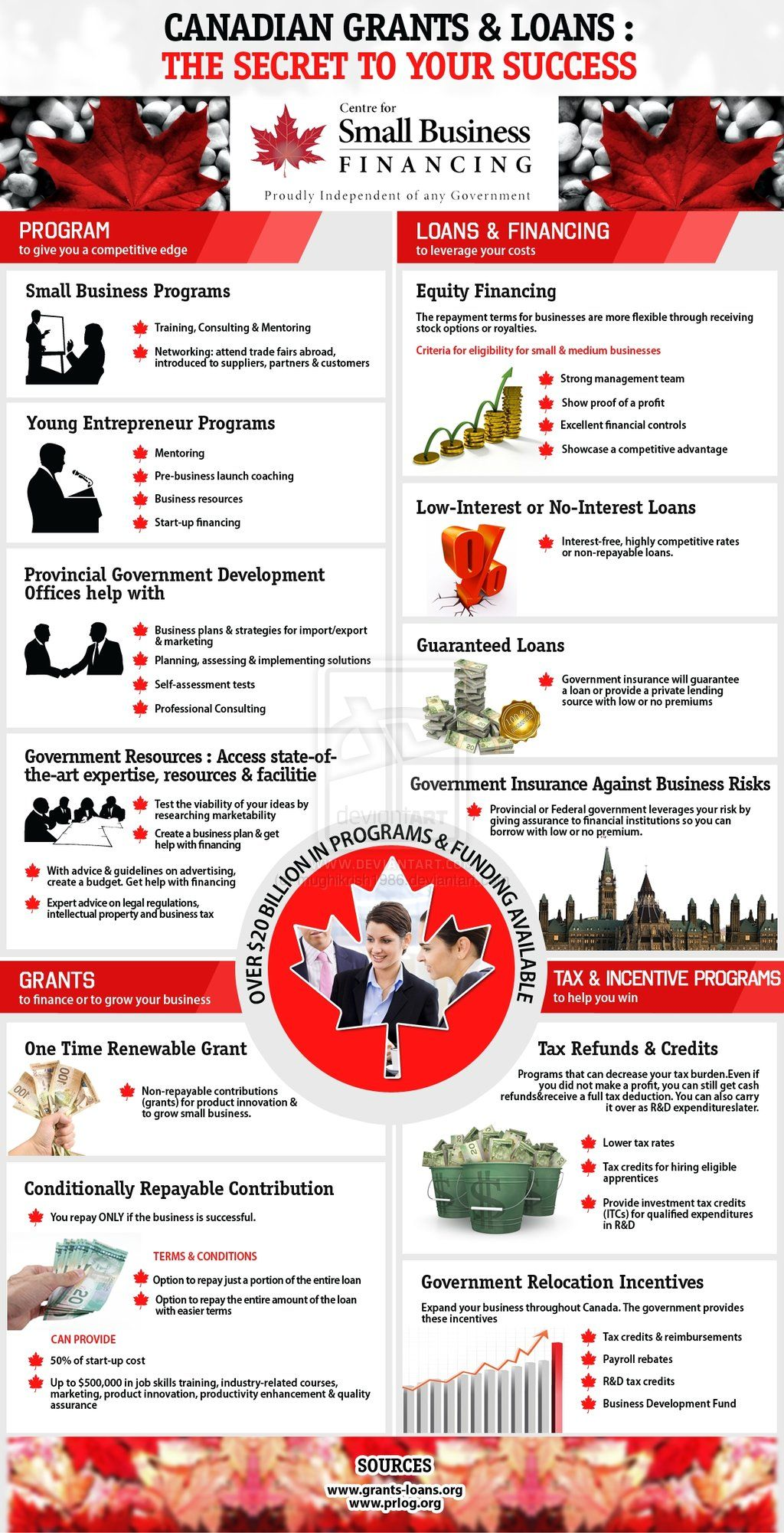 Infographics Canadian Grants Loans Canadian Money Small Business Finance Personal Finance Blogs