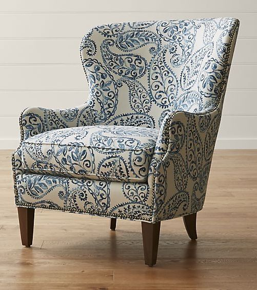 An Overscaled Paisley Print Makes The Brielle Wing Chair An Instant Statement Piece For The