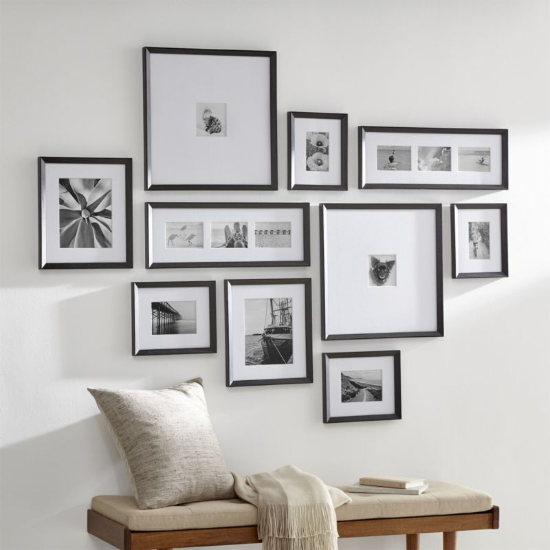 Icon Black Frame Gallery Set Of 10 Crate And Barrel In 2020 Frames On Wall Gallery Wall Layout Picture Gallery Wall