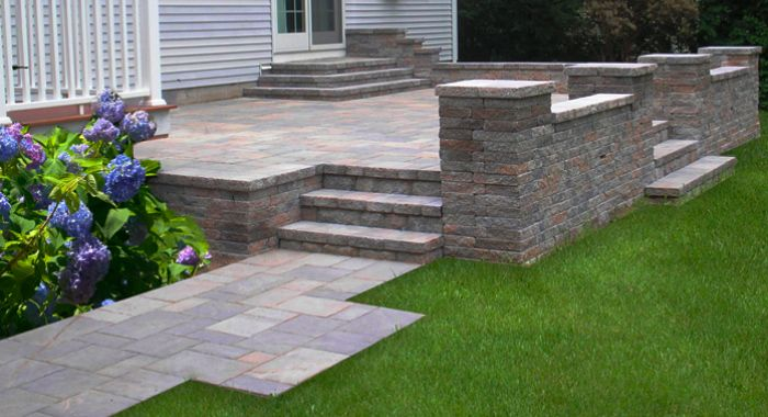 Image Detail For  Patio Style With Contemporary Retaining Wall | Patio Ideas.  Pictures.