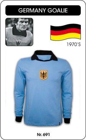 5ff82a44c62 BRD (West-Duitsland) keepersshirt jaren '70 Dit voetbalshirt droeg de  keeper van