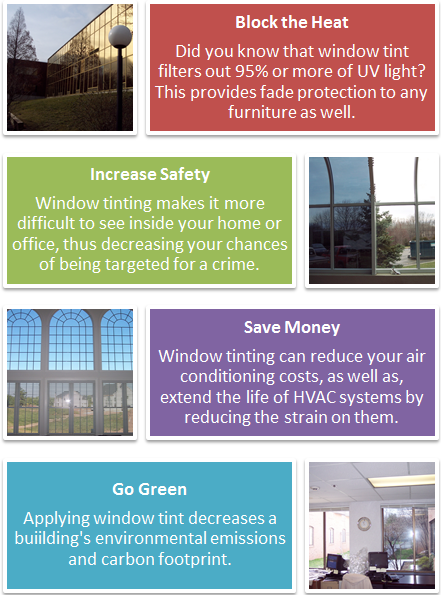 Thinking About Tinting Your Home Or Office Windows Here S A Great Infographic Showing Just Some Of The Benefits Go To Www Tinted Windows Window Film Windows