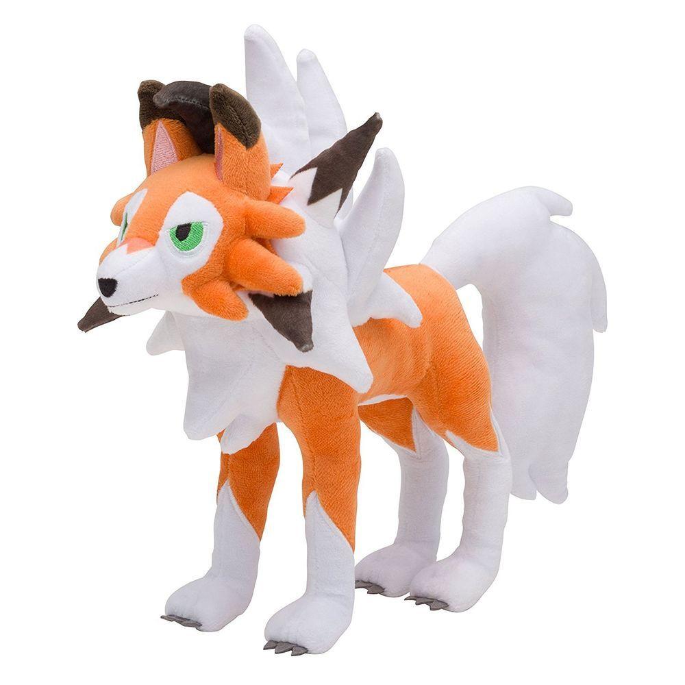 Pokemon Lycanroc Midday Form Plush Doll Sun Moon Stuffed Animal Toy Kids Gift