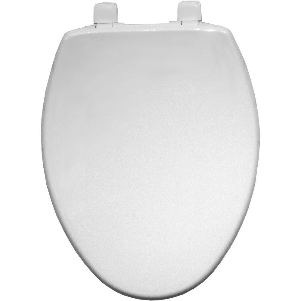 Bemis Slow Close Elongated Closed Front Toilet Seat In White 1580slow 000 Toilet Seat Bemis Home Depot