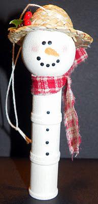 handmade snowman ornament