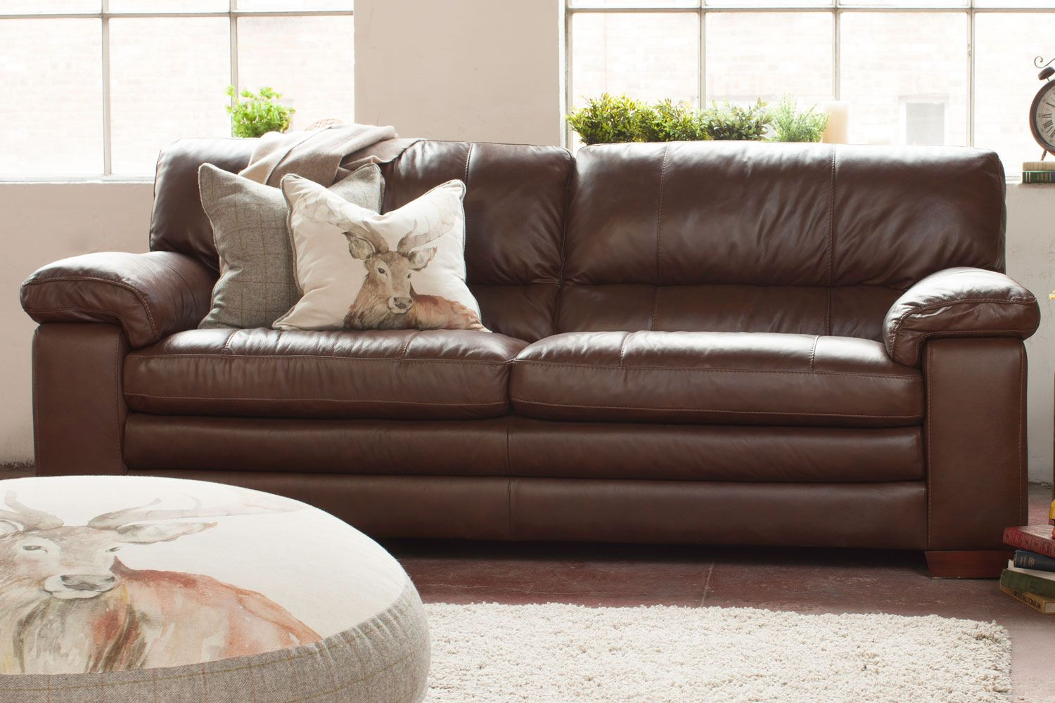 Luxor 3 Seater Leather Sofa At Harvey Norman
