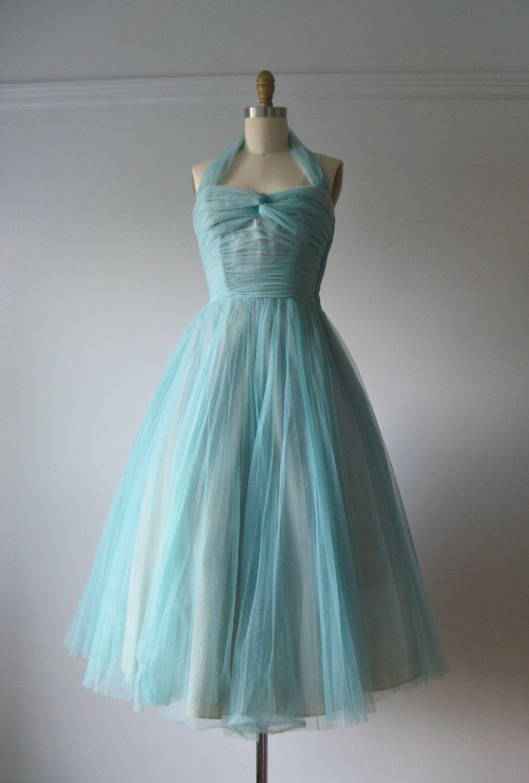 vintage 1950s prom dress / 50s party dress. $155.00, via Etsy ...
