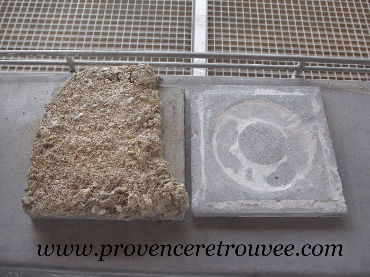 Nettoyage De La Face Arriere Avant Et Apres Meulage Carreaux De Ciment Anciens Carreau De Ciment Carreau
