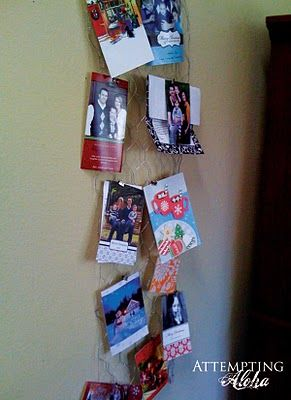 Chicken wire Christmas card display | Christmas | Pinterest ...
