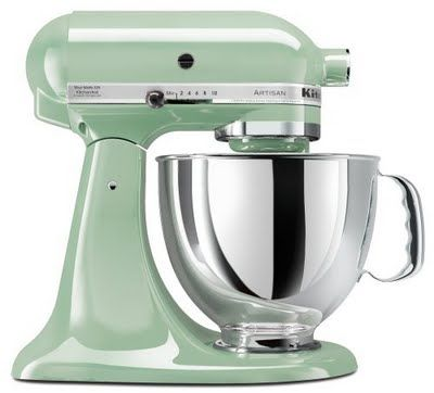 Mint Green Steel Kitchenaid Mixer
