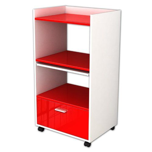 Cannelle Kitchen Trolley Hokku Designs Base Finish Red Wall Shelf With Drawer Drawer Shelves
