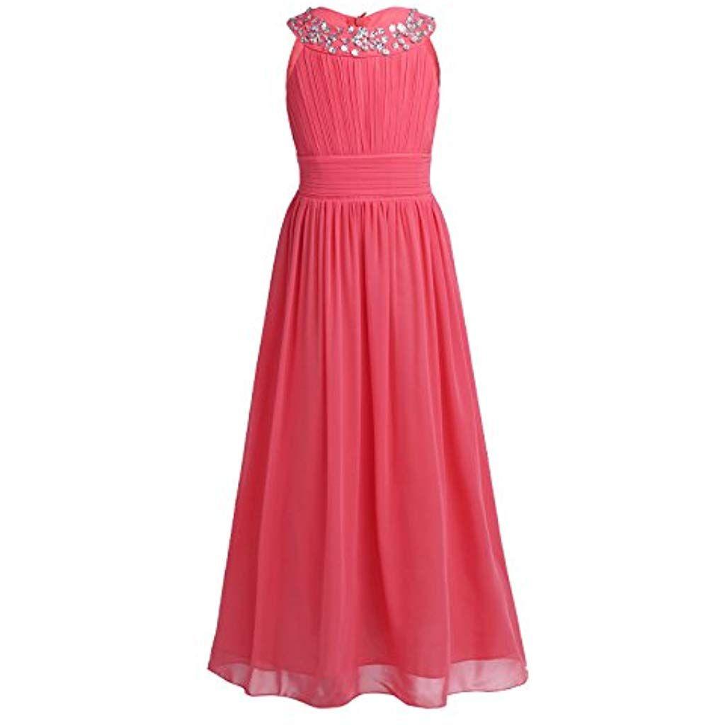 YiZYiF Mädchen Prinzessin Kleid Hochzeits Festzug Kleid