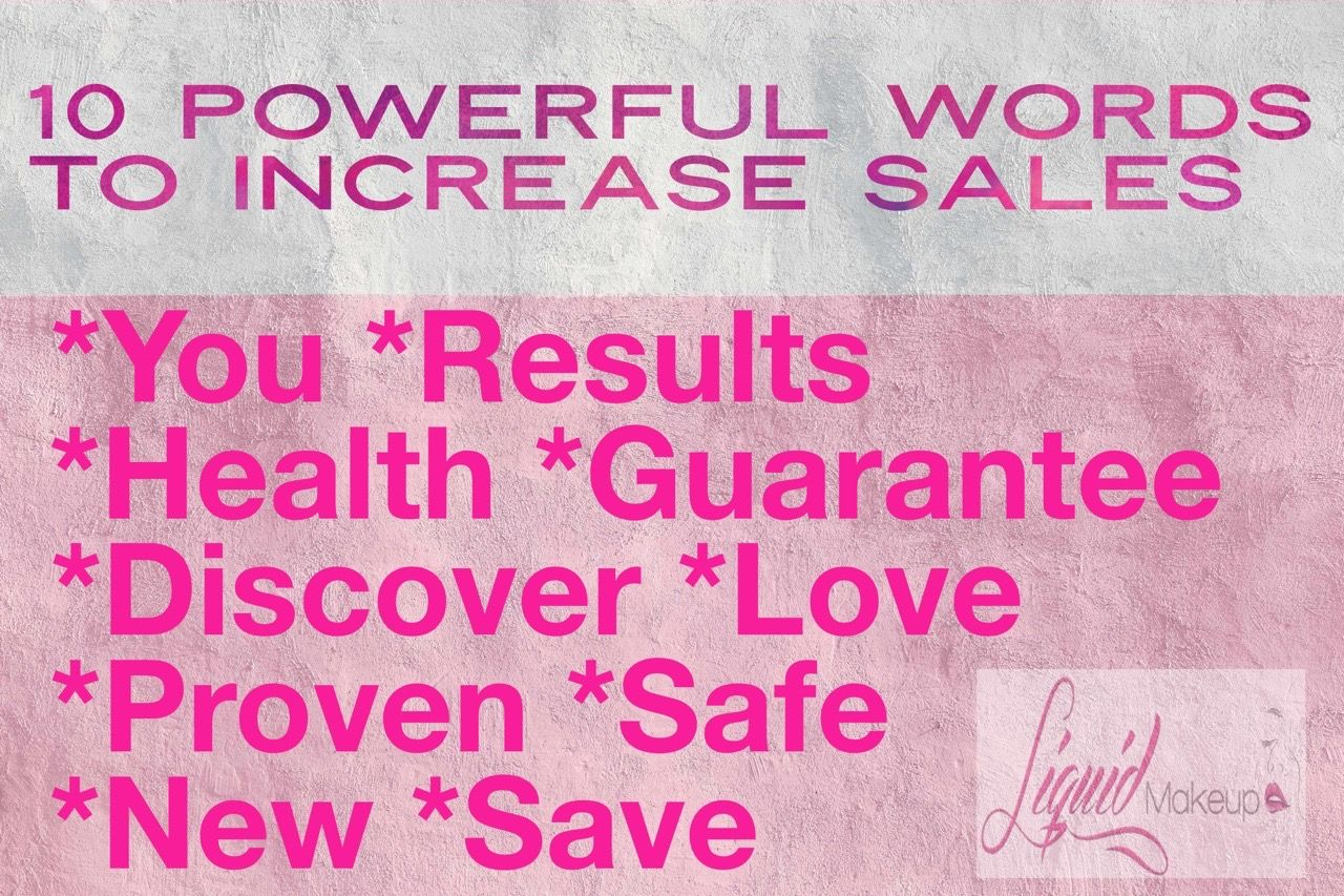 You CAN increase your sales with these powerful💥 words! ️