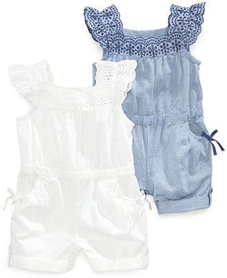 be3f0573f67 First Impressions Baby Girls  Eyelet Romper - Kids Baby Girl (0-24 months)  - Macy s