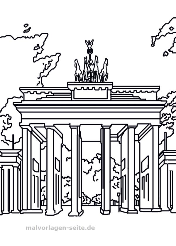 Malvorlage Brandenburger Tor Sehenswurdigkeiten Malvorlagen Vorlagen Ausmalen