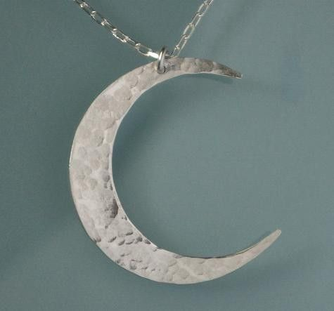 Moon necklace crescent moon necklace sterling silver hammered moon necklace sterling silver crescent moon by eriadesigns on etsy 3600 aloadofball Gallery