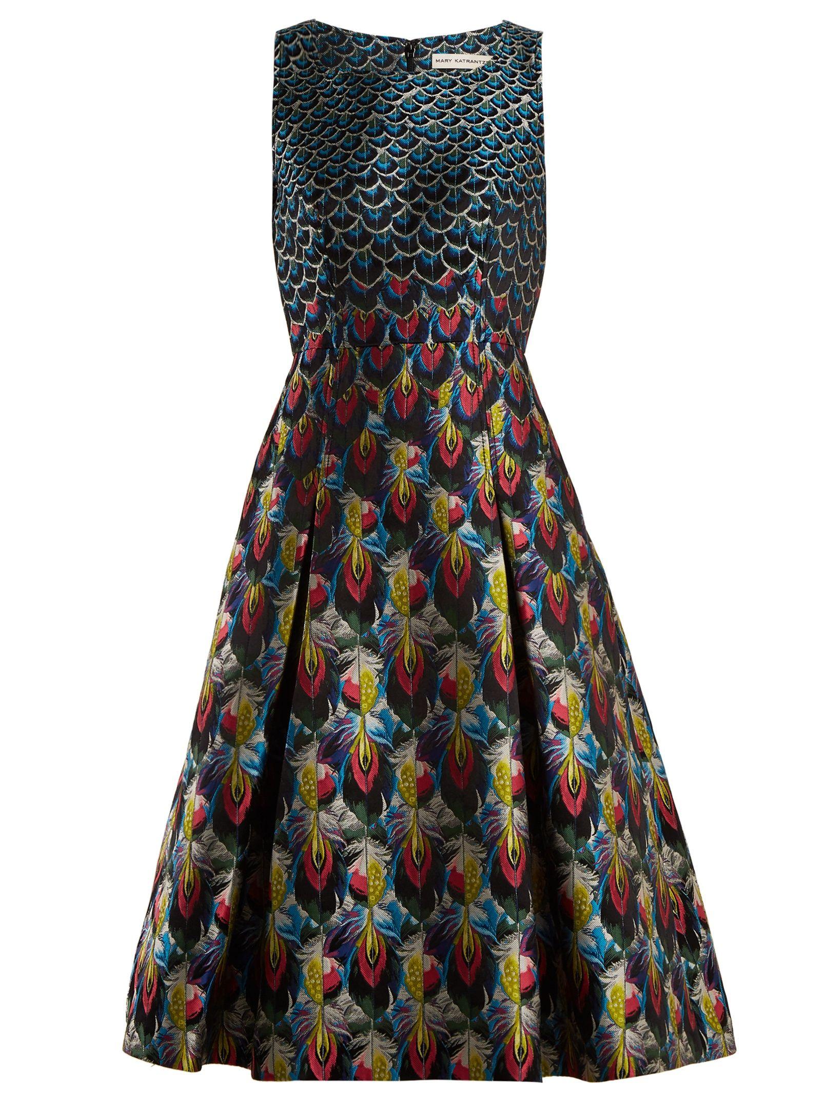 feather print midi dress - Blue Mary Katrantzou Ym4pt