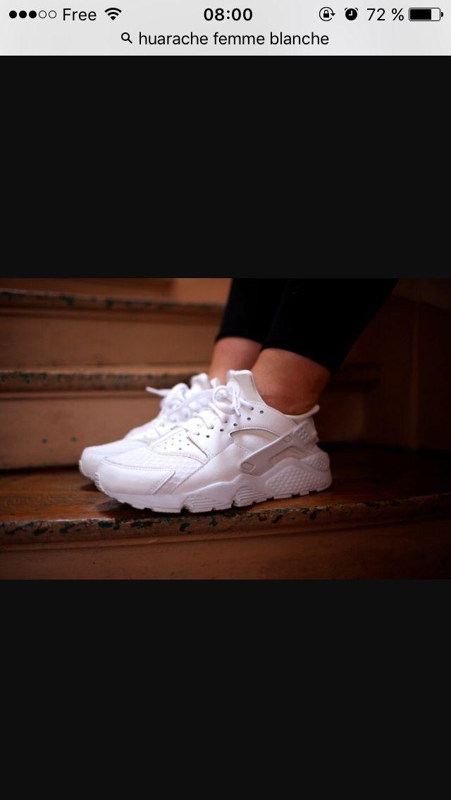 finest selection b6bd0 7da2a Nike huarache blanches