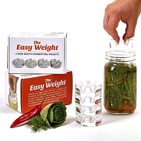 Easy Fermentation Glass Weights with Handles  Fits for Any Wide Mouth Mason Jars