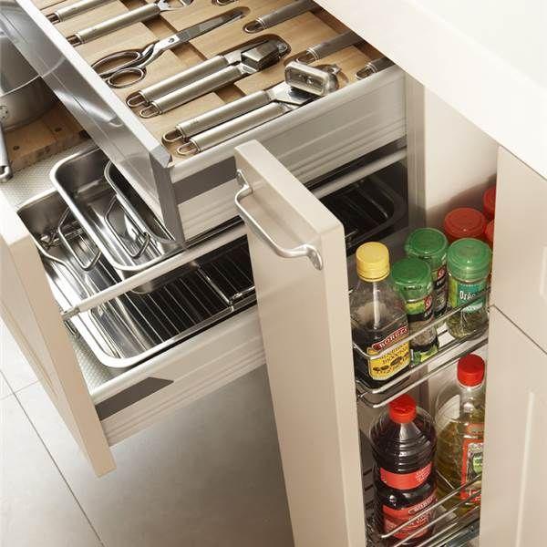 Secretos para ordenar la cocina ideas pinterest for Ordenar armarios cocina