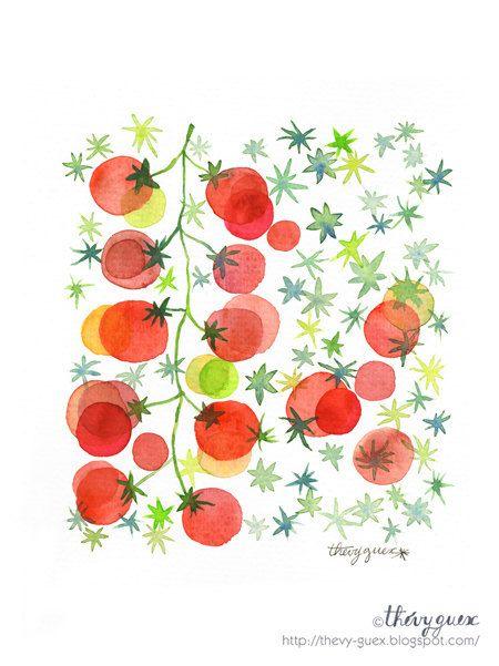 Tomato Rainbow Art Print